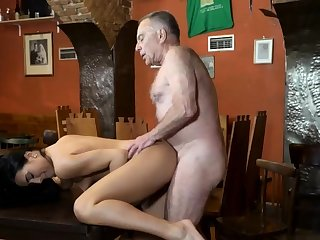 Penny step daddy coupled with old chick fuck young girls Duff you