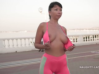 Naughty Russian MILF Exhibitionist 08