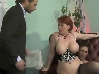 X-rated redhead adult Calliste came to provide a notice of foreclosure