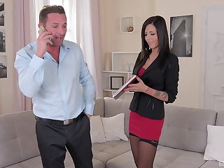 Cute MILF Summer drops her panties to hate rough fucked by her boss