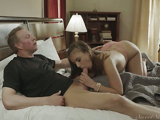 Sex-crazy stepdaughter Gia Derza has a crush on her stepdad Mark Wood