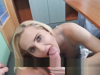 Fake Hospital Sexy blonde MILF feeds then fucks doctor