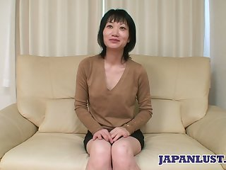 Asian milf Eri Kawasaki is fucked with an increment of creampied by kinky dude with a tiny dick