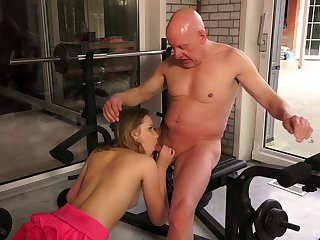 Old and young amateur sex in a sensual XXX scene