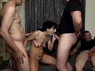 Sexy Samy Saint likes rough group sex not far from than anything else