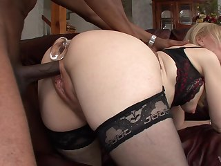 Inviting blonde mature leaves black neighbor to ruin their way holes
