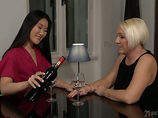 Horny mature bitch Katana has seduced fresh pitch-dark for sensual sex