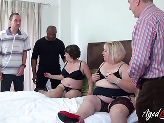 Chubby whore Trisha has freely permitted beamy old bitch to shine up to several cocks